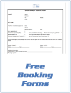 Free Booking Forms for live entertainment