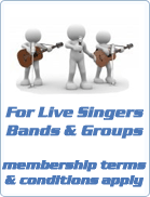 Available for bands, musicians, soloists & groups