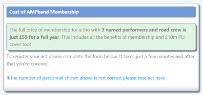 Register with AMPband